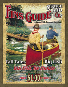 Sporting Art Prints - Fins Guide Service Print by JQ Licensing