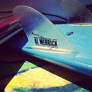 Surfboard Art - Fins  by M West