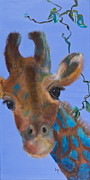 Giraffes Paintings - Fiona by Lynn Rattray