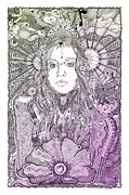 Bands Drawings Prints - Fiona Sweet Apple Color Print by Lance Graves