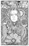 Bands Drawings Prints - Fiona Sweet Apple Print by Lance Graves