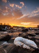 Fire Stones Prints - Fire and Ice Print by Davorin Mance