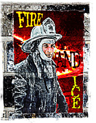 Fire And Ice Graffiti Art Print by Andrew Govan Dantzler