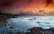 Sean Davey Framed Prints - Fire and ice Framed Print by Sean Davey