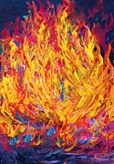 Yellow Mixed Media - Fire and Passion by Eloise Schneider