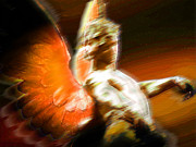 Photo Mixed Media Originals - Fire Angel 2 by Tony Rubino