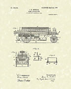 Wagon Drawings Framed Prints - Fire Apparatus 1905 Patent Art Framed Print by Prior Art Design