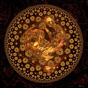 Fire Ball Filigree  Print by Elizabeth McTaggart