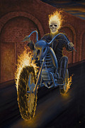 Frightening Originals - Fire Biker by Steve Bridger