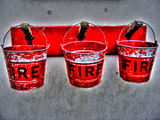 Element Of Fire Framed Prints - Fire Buckets Framed Print by Nina Ficur Feenan