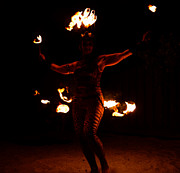 Dancer Art Posters - Fire Dancer Poster by David Lee Thompson
