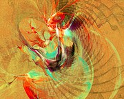 Vivacious Digital Art - Fire Dancer by Jeanne Liander