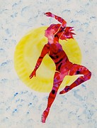 Dancer Mixed Media - Fire dancer by Mary Armstrong