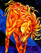 Horse Paintings - Fire Dancer by Sherry Shipley