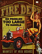 Dalmatian Dog Prints - Fire Department Collectible Print by Robert Harmon