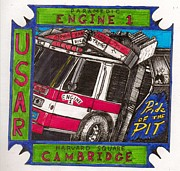 Richie Montgomery Posters - Fire Dept patch design 2 Poster by Richie Montgomery