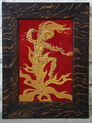 Oak Reliefs - Fire Elf II by Ron Moses