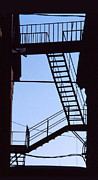 Sillouhuette Photos - Fire Escape by Alan McCormick