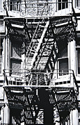 Escape Photo Posters - Fire Escape Poster by Larry Butterworth