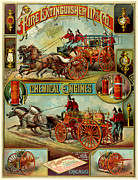 Antique Digital Art Posters - Fire Extinguisher Co Poster by Gary Grayson
