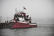 Fireboat Framed Prints - Fire Fghter Framed Print by Linda C Johnson