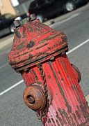 Red Framed Prints - Fire Hydrant Framed Print by Lisa  Phillips