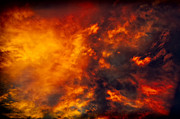 Wallpapers Framed Prints - Fire in the Skies Framed Print by Paul W Sharpe Aka Wizard of Wonders