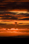 Grey Clouds Photos - Fire in the Sky by Anne Gilbert