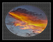 Clouds Photographs Mixed Media Framed Prints - Fire in the Sky Framed Print by Dennis Dugan