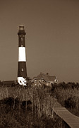 Pictures Of Lighthouses Photo Posters - Fire Island Lighthouse Poster by Skip Willits