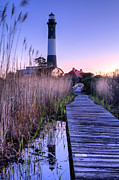 York Beach Metal Prints - Fire Island Reflections Metal Print by JC Findley
