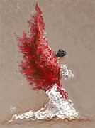 Figurative-abstract Posters - Fire Poster by Karina Llergo Salto