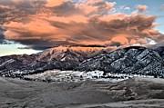 Great Sand Dunes National Park Photos - Fire Over The Dunes by Adam Jewell