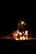 Fire Burns Metal Prints - Fire Pit Metal Print by Anne Beatty
