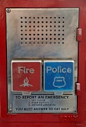Call Box Posters - Fire / Police Call Box Poster by Rob Hans