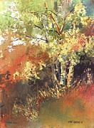 Autumn Trees Painting Prints - Fire Season Print by Kris Parins