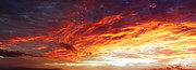 Dawn Prints - Fire sky  Print by Les Cunliffe