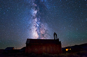 Milky Way Photos - Fire station at Bodie by Cat Connor