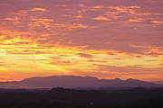 Gatlinburg Tennessee Photos - Fire Sunset over Smoky Mountains by Kay Pickens