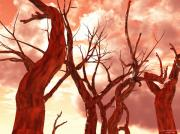Nagel Prints - Fire Trees Print by Eric Nagel