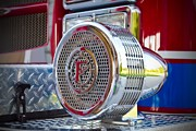 Travel Truck Prints - Fire truck siren Print by Fizzy Image