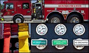 Compressor Framed Prints - Fire Truck with Isolated Views Framed Print by Terrie Heslop