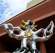 Uptown Charlotte Photos - Firebird And Sky by Randall Weidner