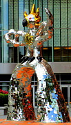 Uptown Charlotte Photos - Firebird With Knight by Randall Weidner