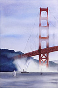Fireboat Framed Prints - Fireboat in the San Francisco Bay Framed Print by Janaka Ruiz