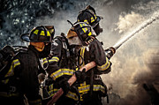 Fire Photos - Firefighters by Everet Regal
