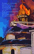 House Fires Posters - Firefighters Poem Poster by John Malone