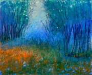 Magical Pastels Prints - Firefly Forrest Print by Jane Wilcoxson