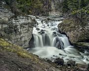 Water Filter Art - Firehole Falls by Jennifer Grover