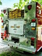 Trucks Prints - Fireman - Back of Fire Truck Closeup Print by Susan Savad